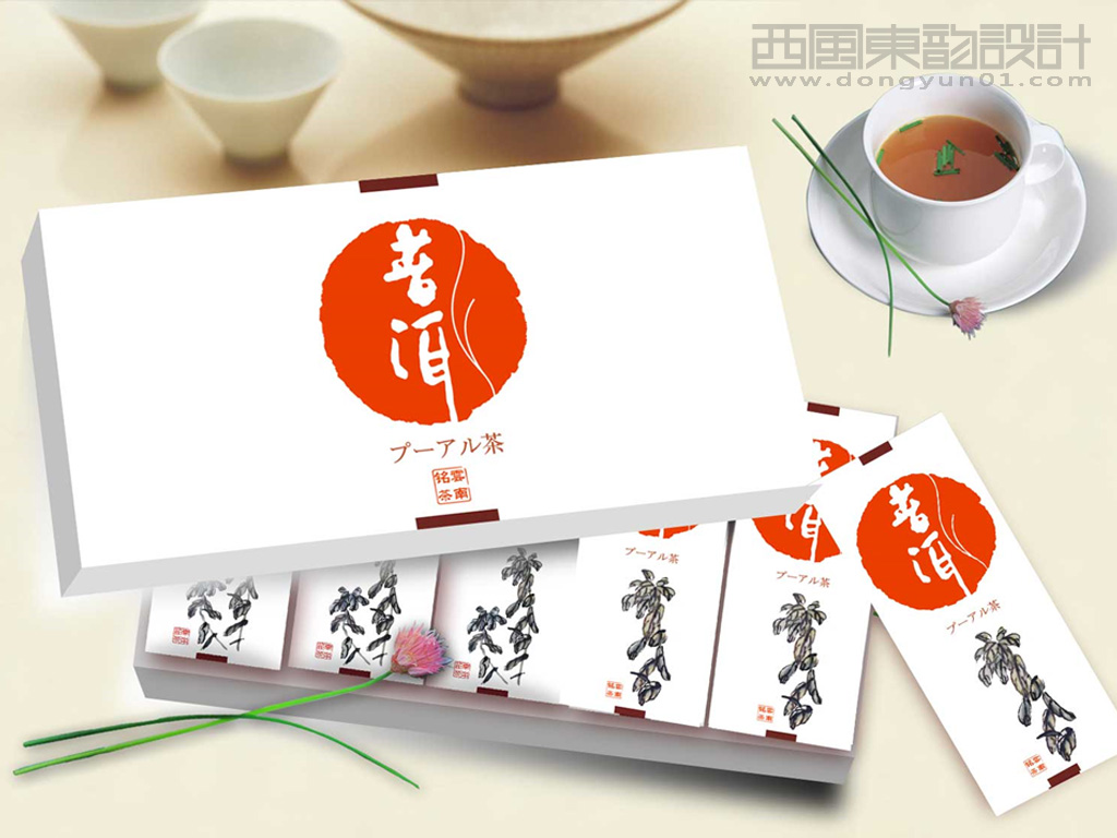 出口日本普洱茶包装设计