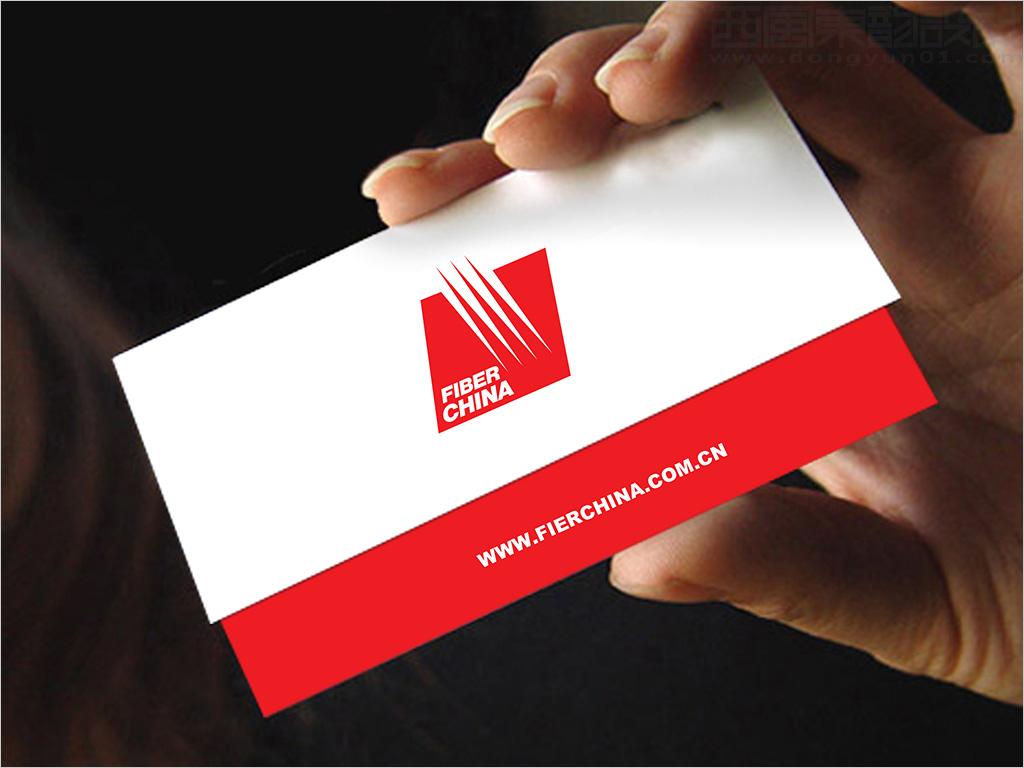 中国建材集团进出口公司fiber china 出口光纤材料logo设计之折叠名片图片