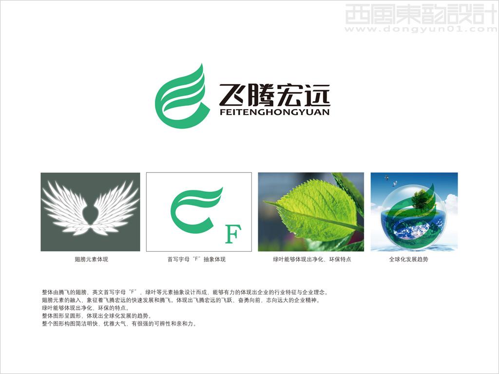 北京飞腾宏远净化装饰公司标志设计