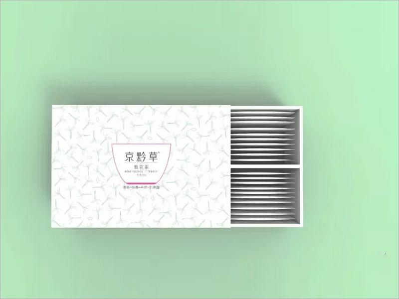 日本花草茶纸盒包装设计---清新雅致
