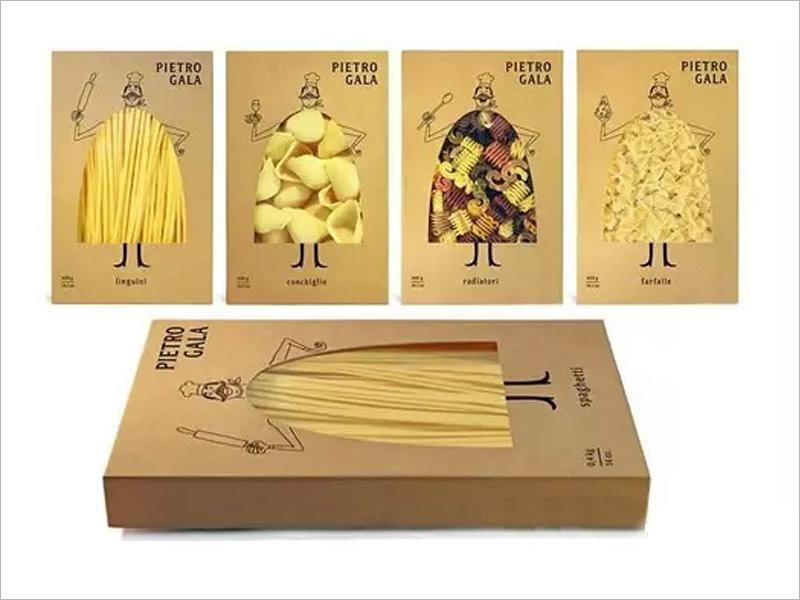 日本休闲食品纸盒包装设计---卡通可爱的大肚汉与休闲食品实物相结合