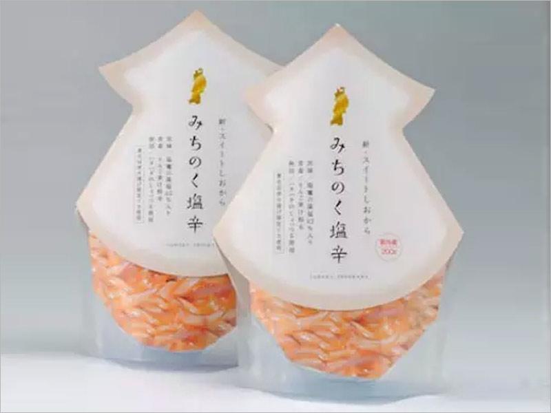 日本海鲜产品纸盒包装设计——干净清新的设计风格!
