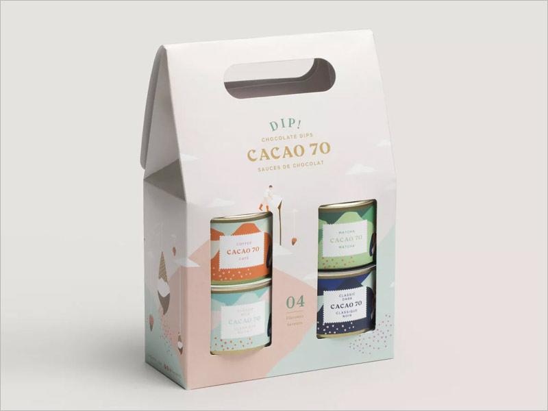 cacao70巧克力包装设计